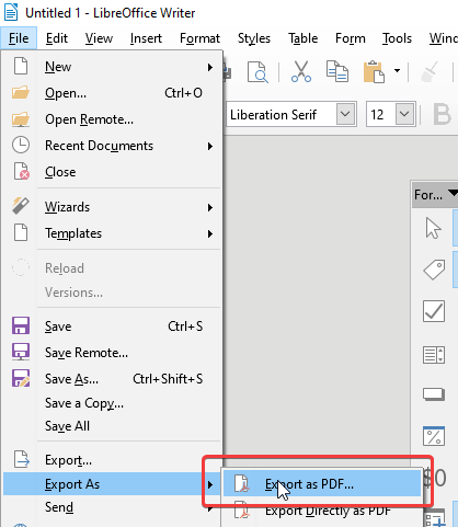 Tag export as PDF