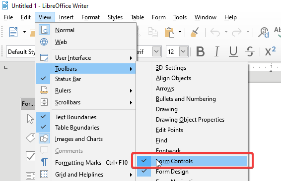 Set Form editor to visible