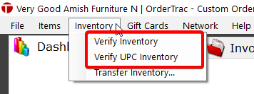 Open verify inventory